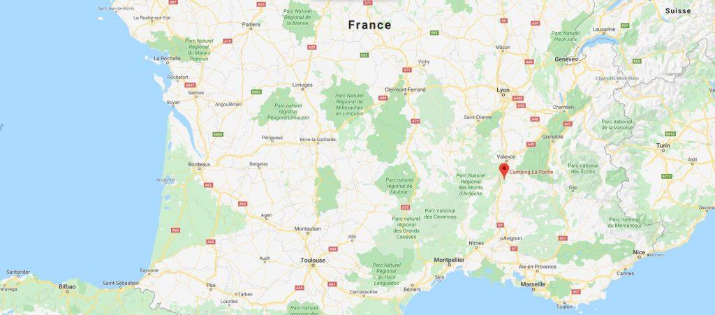 Camping La Poche : Carte